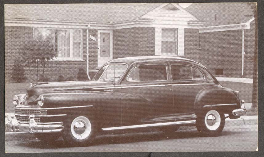 1947 Chrysler Royal 2-door Sedan postcard