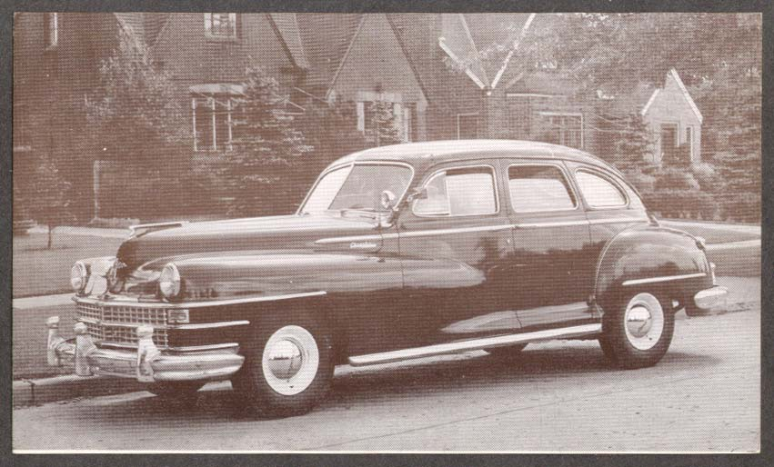 1946 Chrysler Royal 4-door Sedan postcard