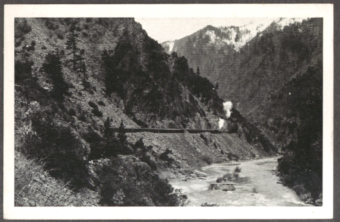 Image for Western Pacific RR Exposition Flyer Feather River Canyon CA postcard 1939-40