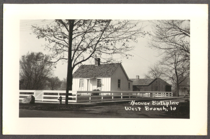 Image for Herbert Hoover Birthplace West Branch IA RPPC 1940s