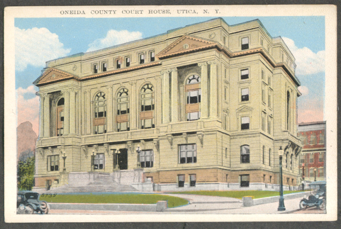 Image for Oneida County Courthouse Utica NY postcard 1910s