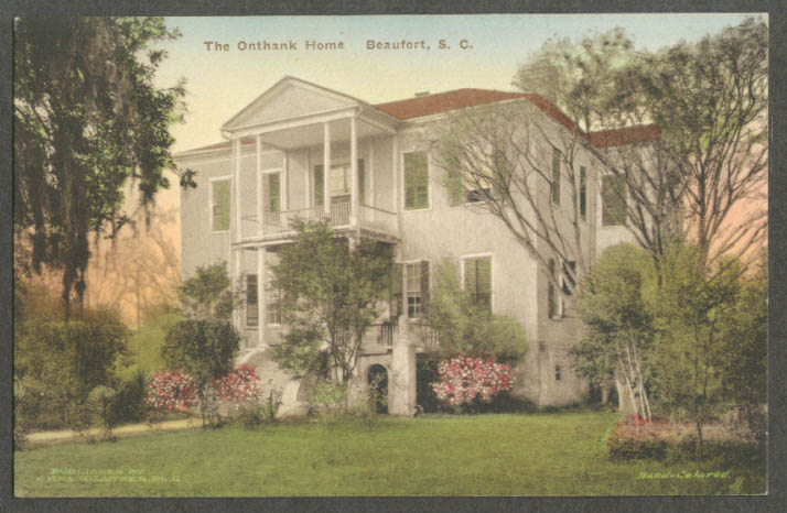 Image for The Onthank Home in Beaufort SC postcard 1910s