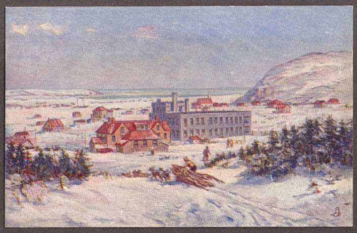 Image for Sir Wilfred Grenfell's St Anthony Hospital Newfoundland postcard 1930s