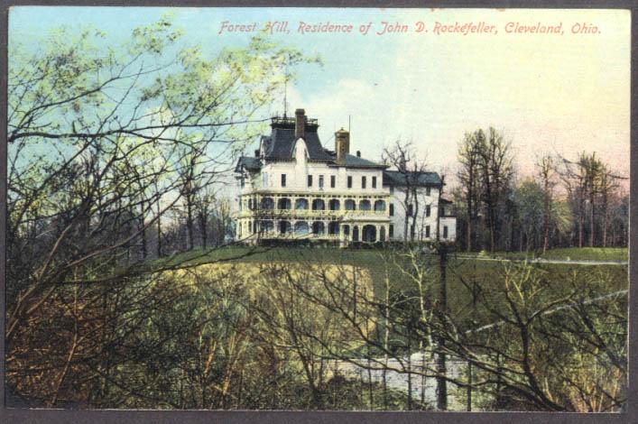Forest Hill John D Rockefeller Residence Cleveland OH postcard 1910s