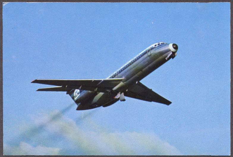 Image for KLM Royal Dutch Airlines Douglas DC-9 airline issue postcard
