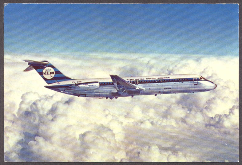 Image for KLM Royal Dutch Airlines Douglas Stretch DC-9-30 airline issue postcard