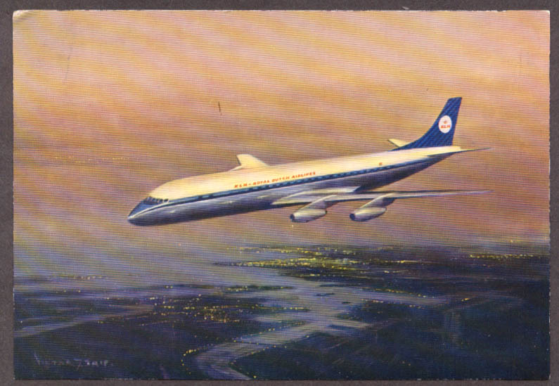 Image for KLM Royal Dutch Airlines Douglas DC-8 Intercontinental airline issue postcard #2
