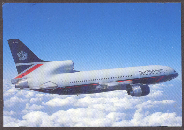 British Airways Lockheed L-1011 TriStar airline issue postcard