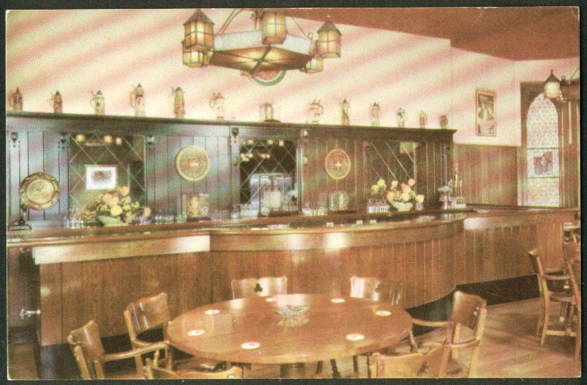 Miller Brewing Company visitor beer bar Milwaukee WI postcard 1960s