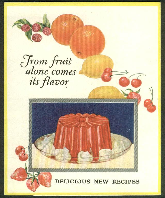Royal Fruit Gelatin recipe folder 1926