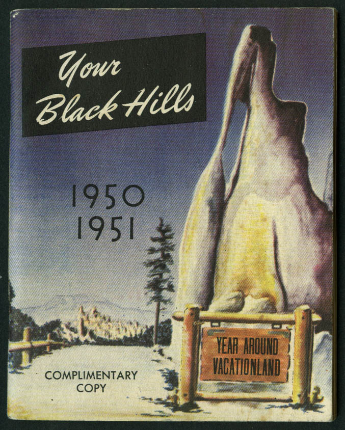 Your Black Hills Vacationland booklet 1950-1951 SD