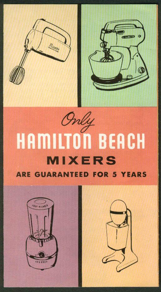 Hamilton Beach Mixers sales folder 1950s