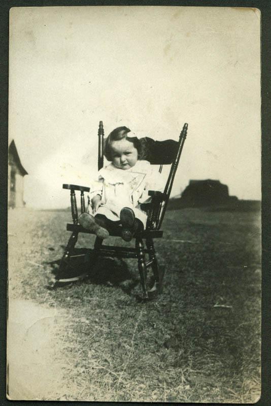 Baby Catherine Zerual Hethrington Strasburg Saskatchewan RPPC postcard 1910s