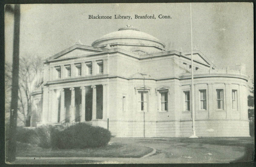 Blackstone Library at Branford CT postcard 1950s