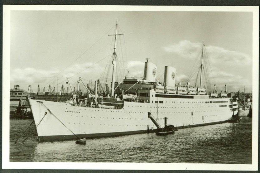 Swedish American Line M S Gripsholm RPPC postcard 1950s