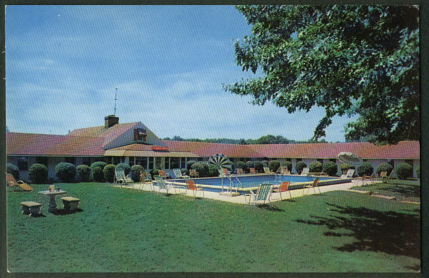 Monmouth motel pool route 66 neptune nj postcard 1950s for 66 nail salon neptune nj