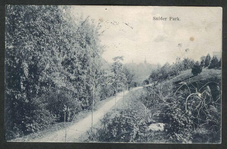 Snider Park St Johns OH postcard 1906