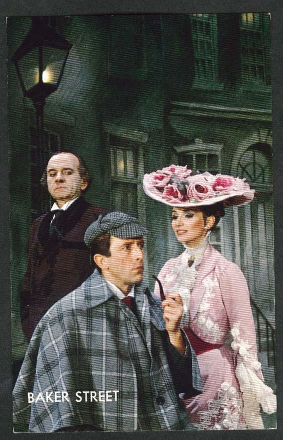 Baker Street Fritz Weaver Inga Swenson Martin Gabel Broadway postcard 1965