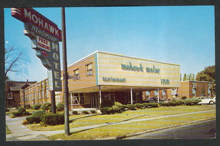 Mohawk Motor Hotel Restaurant Inn 1640 Main Street Buffalo NY postcard 1950s