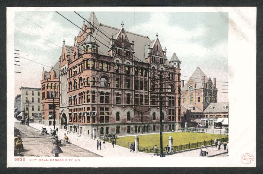 City Hall Kansas City MO undivided back postcard 1900s