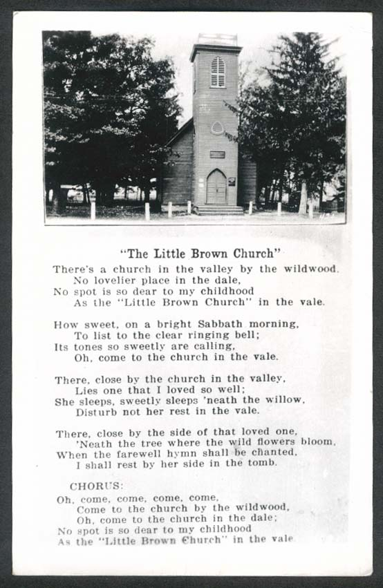 Little Brown Church RPPC Milwaukee MN 1950s