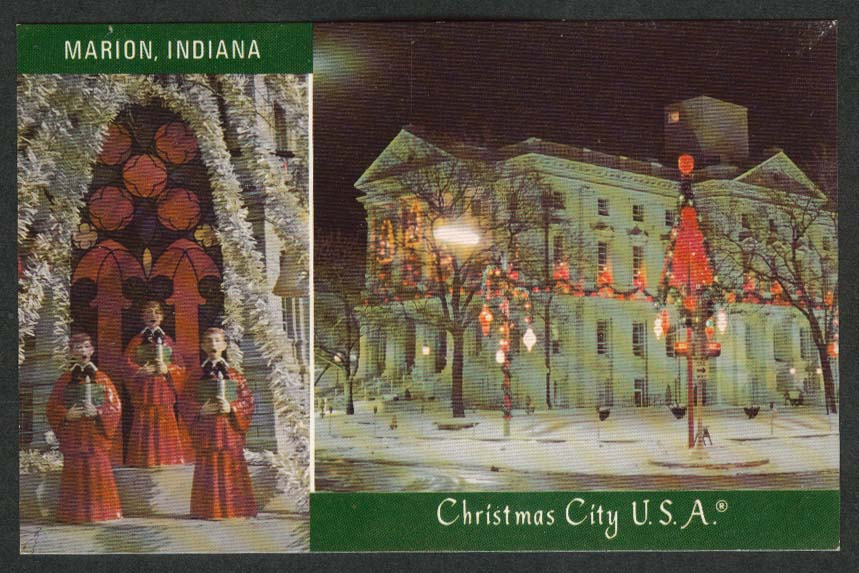 Marion IN Christmas City USA 1950s