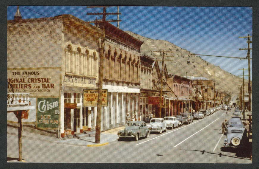 Crystal Bar Silver Slipper Chism Coca-Cola Virginia City NV postcard 1950s