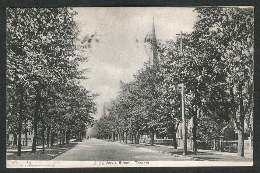 Jarvis Street Toronto postcard 1905
