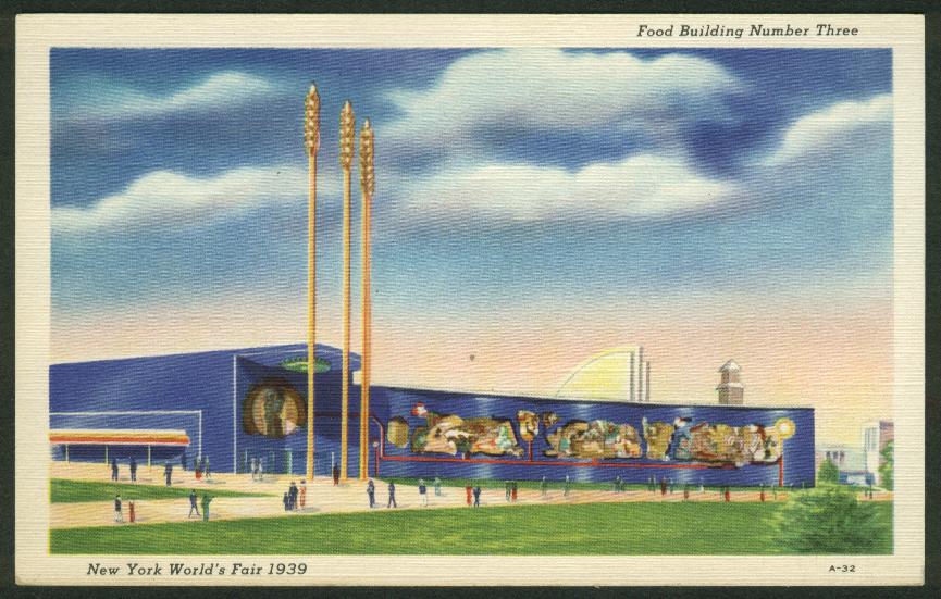 Food Building #3 New York World's Fair 1939 postcard A-32