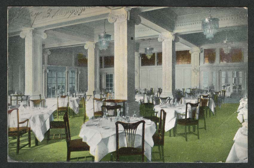 Dining Room Hotel Stewart Geary San Francisco CA postcard 1908