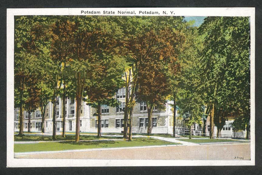 Potsdam State Normal Potsdam NY postcard 1910s