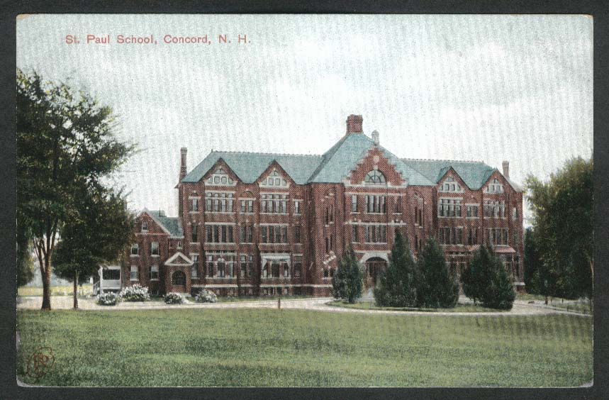 St Paul School Concord NH postcard 1910s