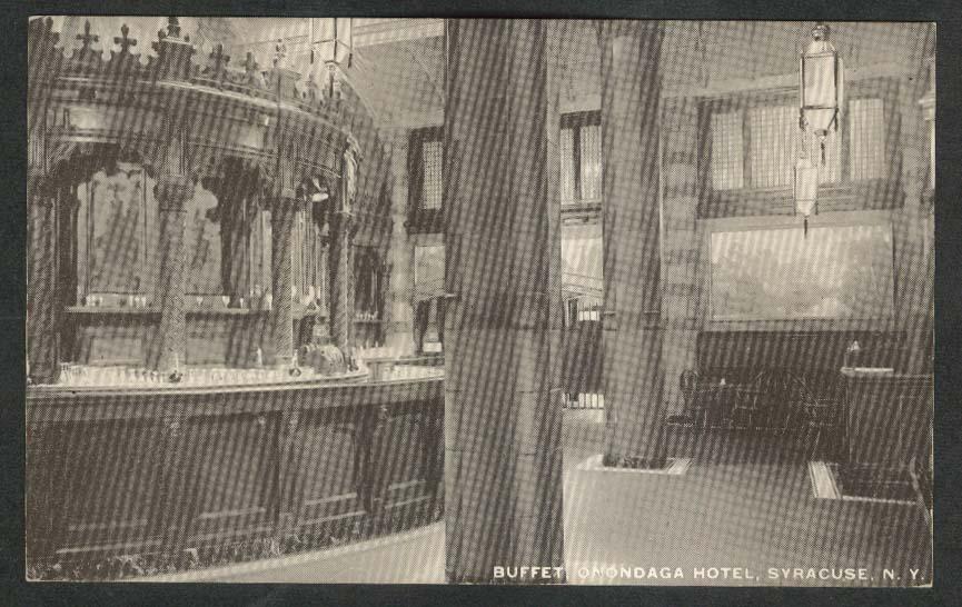 Buffet Onondaga Hotel Syracuse NY postcard 1920s