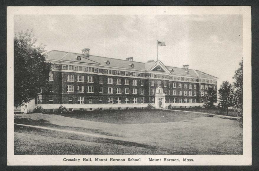 Crossley Hall Mount Herman School MA postcard 1940s