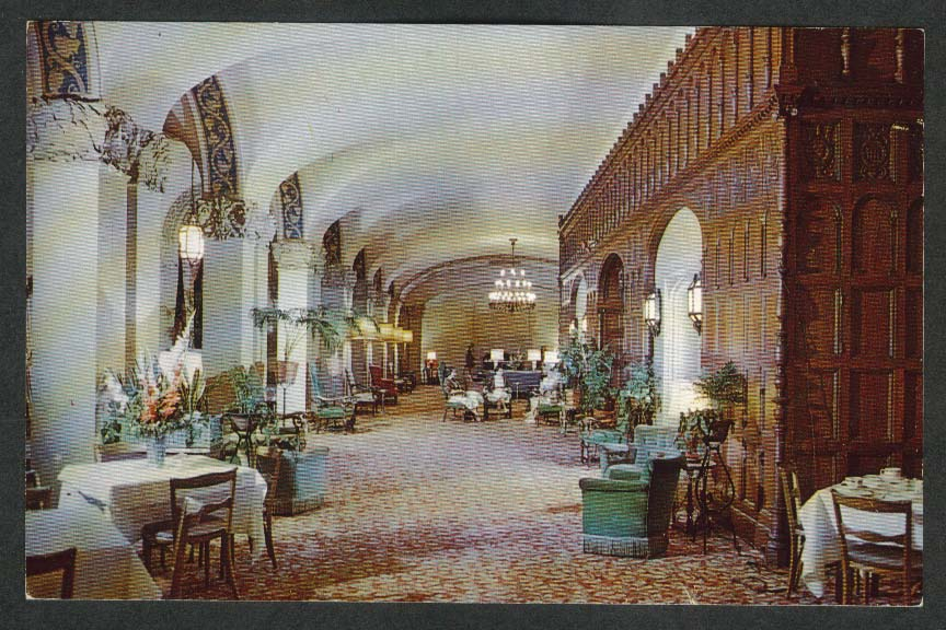Main Foyer Westchester Country Club Rye NY postcard 1950s