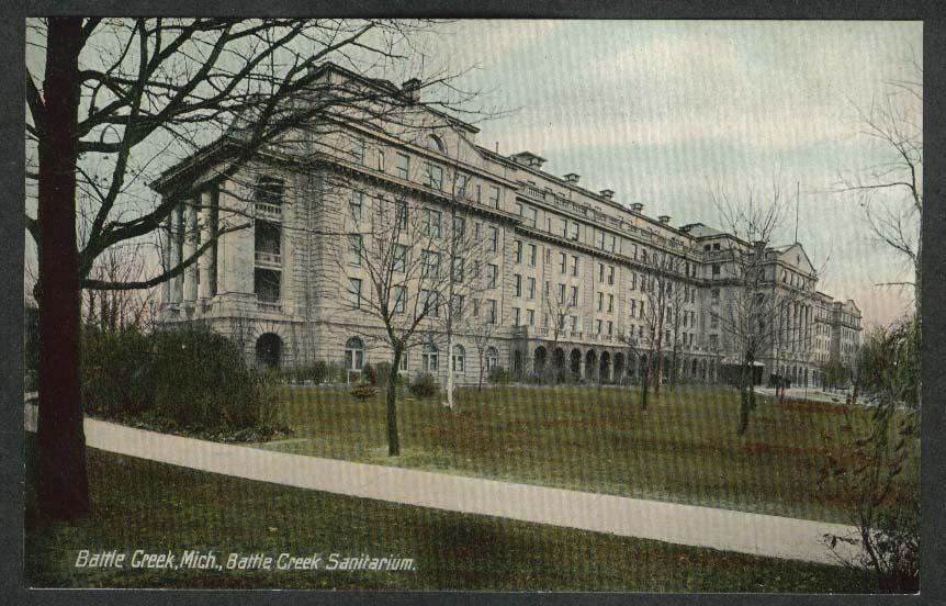 Battle Creek Sanitarium Battle Creek MI postcard 1910s