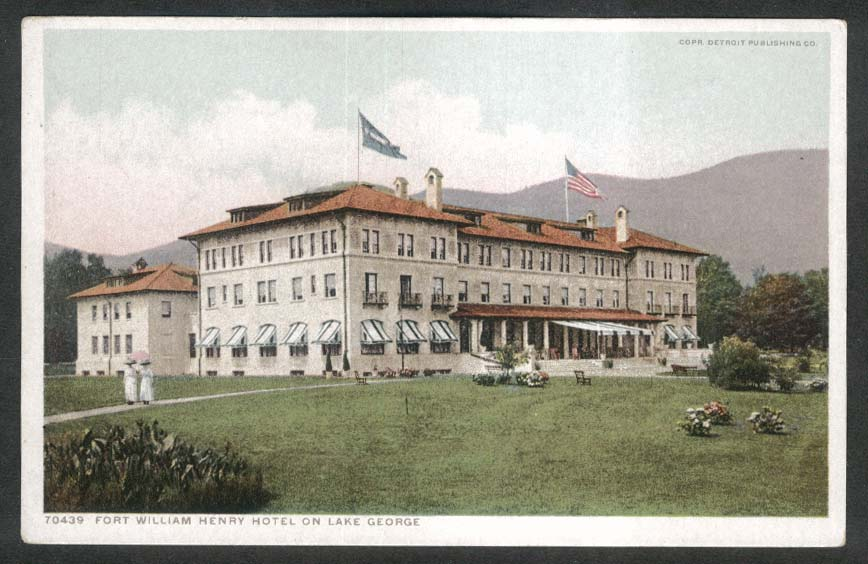 Fort William Henry Hotel Lake George NY postcard 1910s