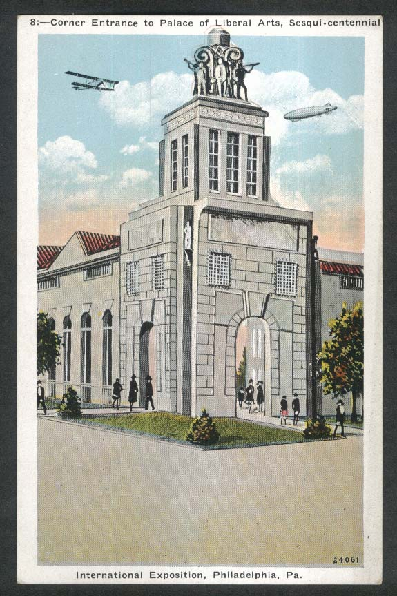 Liberal Arts Palace International Exposition Philadelphia postcard 1926