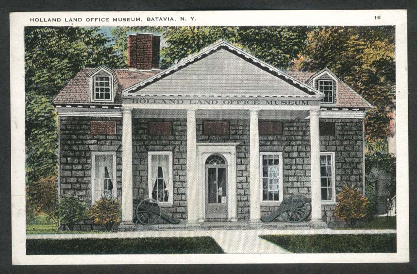 Holland Land Office Museum Batavia NY postcard 1910s