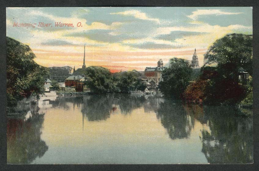 Mahoning River Warren OH postcard 1911
