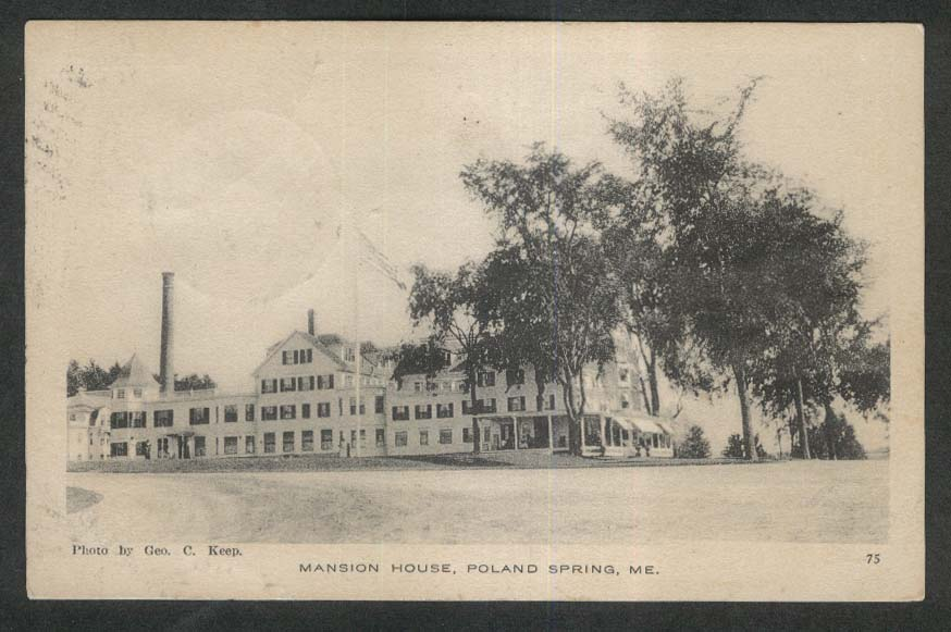Mansion House Poland Spring ME postcard 1917