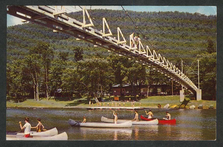 Pine Creek Jersey Shore PA Grand Canyon Boy Scout Canoe postcard 1969