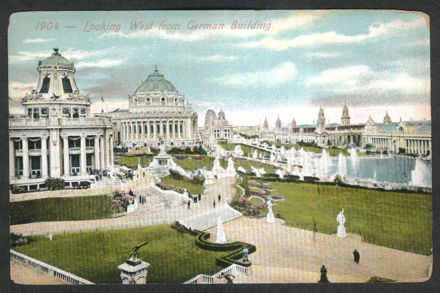 Looking West from German Building postcard 1904