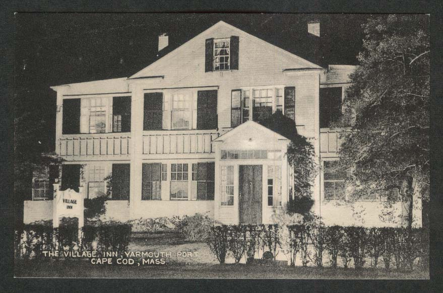 Village Inn Yarmouth Port Cape Cod MA postcard 1920s