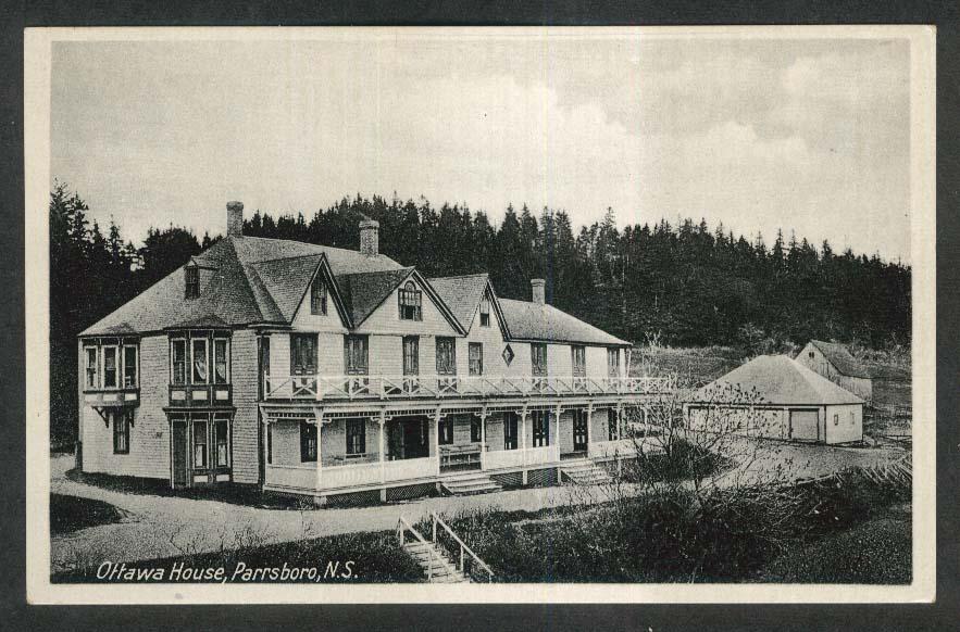 Ottawa House Parrsboro Nova Scotia Canada postcard