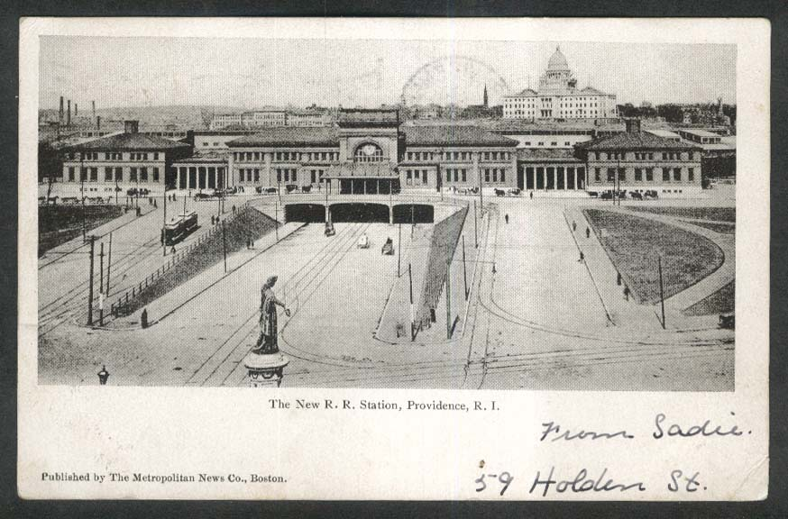 New Railroad Station Providence RI undivided back postcard 1905