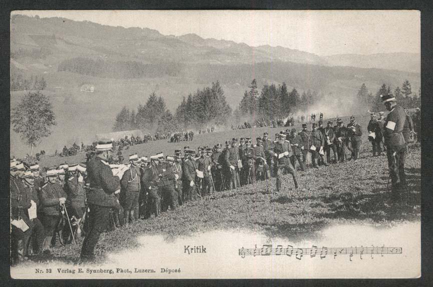 Kritik band music Luzerne Lucerne Switzerland undivided back postcard 1900s