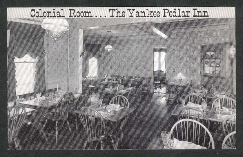 Colonial Room The Yankee Pedlar Inn Holyoke MA postcard 1940s