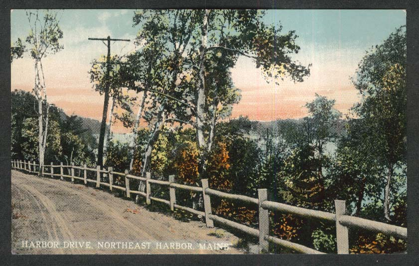 Harbor Drive Northeast Harbor ME postcard 1920s