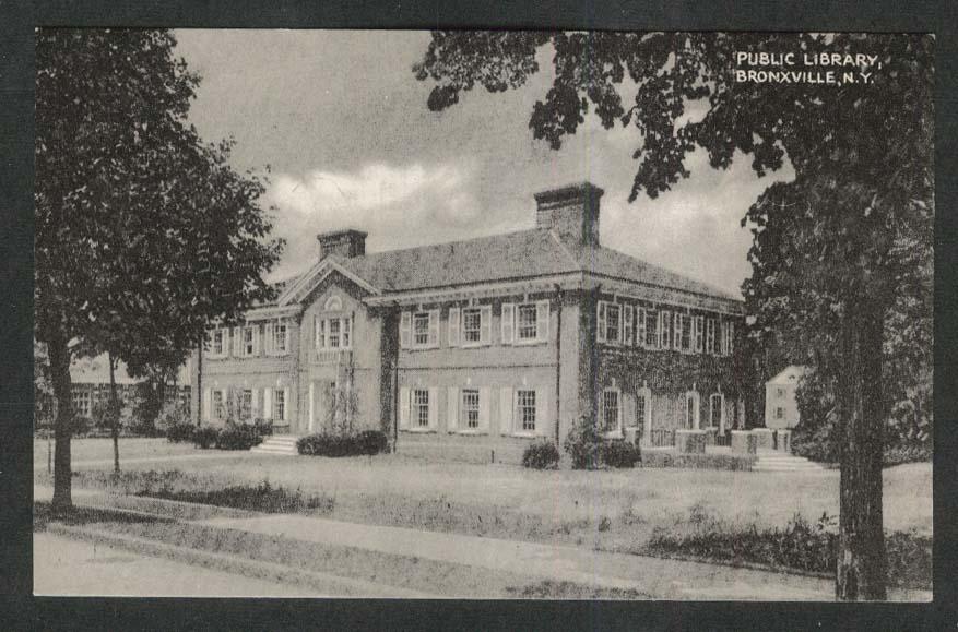 Public Library Bronxville NY postcard 1920s
